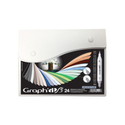 Set de 24 marqueurs GRAPH'IT Brush & Extra fine Architecture