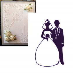 Plaque d'embossage bride groom de Darice