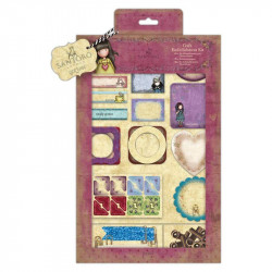 "Kit embellissements ""Santoro - Gorjuss' "" de Docrafts (81 pcs)"