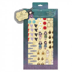 "Kit embellissements ""Santoro - Gorjuss' "" de Docrafts (64 pcs)"