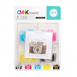 "Kit tampons transparents CMYK ""camera"" de We R memory keepers"
