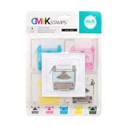 "Kit tampons transparents CMYK ""typewriter"" de We R memory keepers"