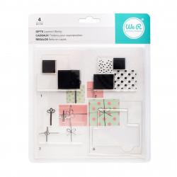 "Kit tampons transparents CMYK ""Cadeaux"" de We R memory keepers"