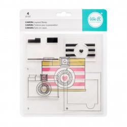 "Kit tampons transparents CMYK ""Caméra vintage"" de We R memory keepers"