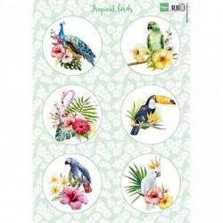 """Papier à découper """"tropical birds"""" de Marianne Design"""