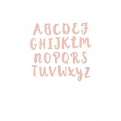 """Thinlits Set dies """"Alphabet majuscules au pinceau"""" de Sizzix"""