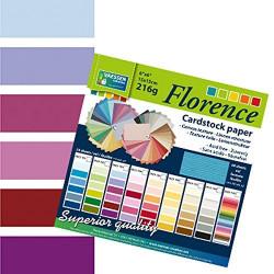 Bloc de papier scrapbooking florence carton 15x15 cm (24 feuilles) teintes violet de Vaessen Creative
