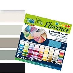 Bloc de papier scrapbooking florence carton 15x15 cm (24 feuilles) teintes noir de Vaessen Creative