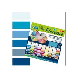 Bloc de papier scrapbooking florence carton 15x15 cm (24 feuilles) teintes bleu de Vaessen Creative