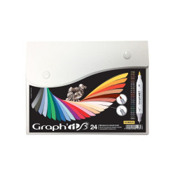 Set de 24 marqueurs GRAPH'IT Brush & Extra fine Comics