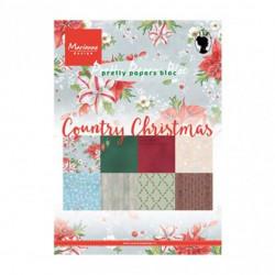 """Set de 32 feuilles de papier scrapbooking 21x15 cm """"country christmas"""" de Marianne Design"""