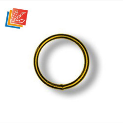 Lot d'anneaux ECO Diam. Int. 15 mm en acier laitonné