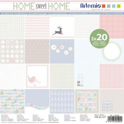 "Bloc de 40 feuilles de papier scrapbooking 30x30 cm ""Home Sweet home"" d'Artemio"