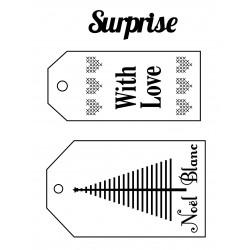 Set de mini tampon transparent Etiquettes Noël Planche 7 x 9 cm ARTEMIO