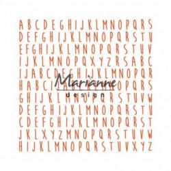 """Plaque d'embossage """"folder ABC"""" de Marianne Design"""