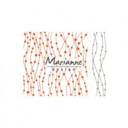 "Die et plaque d'embossage ""folder extra celestial stars"" de Marianne Design"