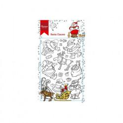 """Set de tampon transparent """"Hetty's santa clauses"""" de Marianne Design"""