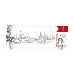 """Set de tampon transparent """"Hetty's border village"""" de Marianne Design"""