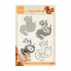 """Tampon transparent """"Tiny's squirrel layering"""" de Marianne Design"""