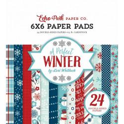 """Set Papier 15x15 """"A Perfect Winter"""" de Echo park paper"""