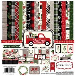 "Set Papier 30x30 ""Christmas Delivery"" de Carta Bella"