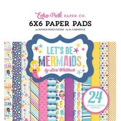 """Set Papier 15x15 """"Let's Be Mermaids"""" de Echo park paper"""