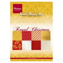 """Set de 32 feuilles de papier scrapbooking 21x15 cm """"Royal christmas"""" de Marianne Design"""