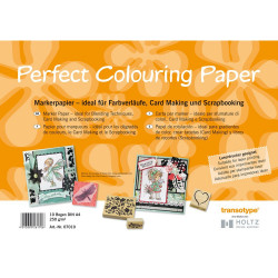 Bloc de 50 feuilles papier Perfect Colouring Layout A4 250g de Copic