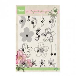 "Tampon transparent ""Tiny's helleborus layering"" de Marianne Design"
