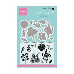"Set de tampons transparents et dies""giftwrapping twigs & twine"" de Marianne Design"