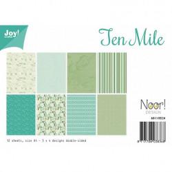 "Set de 12 feuilles photo recto-verso A4 ""ten mile"" de Joy!Crafts"