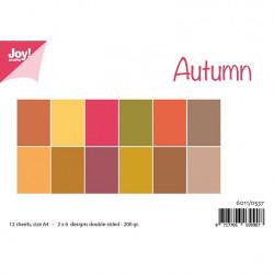 """Set de 12 feuilles photo recto-verso A4 """"Couleurs d'automne"""" de Joy!Crafts"""