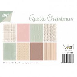 "Set de 12 feuilles photo recto-verso A4 ""rustic christmas"" de Joy!Crafts"