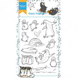 """Set de tampon transparent """"Hetty's happy pinguins"""" de Marianne Design"""