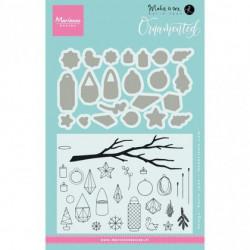 """Set de tampons transparents et dies""""ornamented"""" de Marianne Design"""