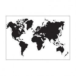 Plaque d'embossage world map de Darice