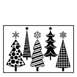 Plaque d'embossage christmas trees de Darice