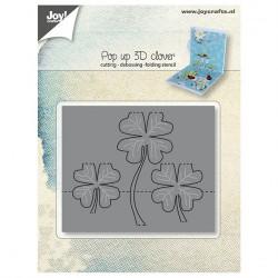 """Die """"Pop up 3D Clover"""" de Joy!Crafts"""