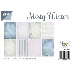 "Set de 12 feuilles recto verso A4 ""misty winter"" de Joy!Crafts"