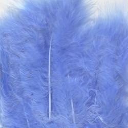 Plumes de Marabou bleu (15 pcs)