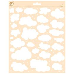 """Pochoir """"nuage et étoile"""" 24 x 18,8 cm de Joy!Crafts"""