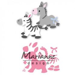 """Die Collectable """"Eline's zebra & donkey"""" de Marianne Design"""