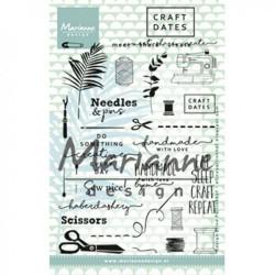 "Set de tampons transparents ""Eline's clear stamps craft dates 2"" de Marianne Design"