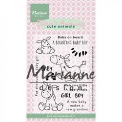 "Set de tampons transparents ""Eline's clear stamps zebra"" de Marianne Design"
