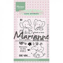 """Set de tampons transparents """"Eline's clear stamps elephant"""" de Marianne Design"""