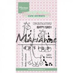 "Set de tampons transparents ""Eline's clear stamps giraffe"" de Marianne Design"