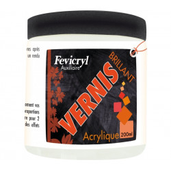 Vernis brillant Fevicryl en pot de 200ml