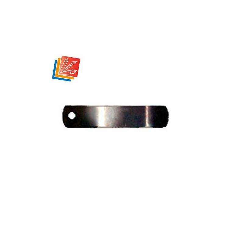 Lot de tournettes de 30 mm, largeur 6 mm, ép 0.5 mm, trou de 2.75 mm en acier noirci