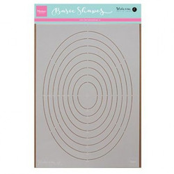 "Pochoir ""Karin's basic shape oval"" de Marianne Design 30x30 cm"