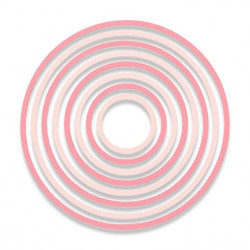 """Thinlits die """"concentric circles"""" de Sizzix"""